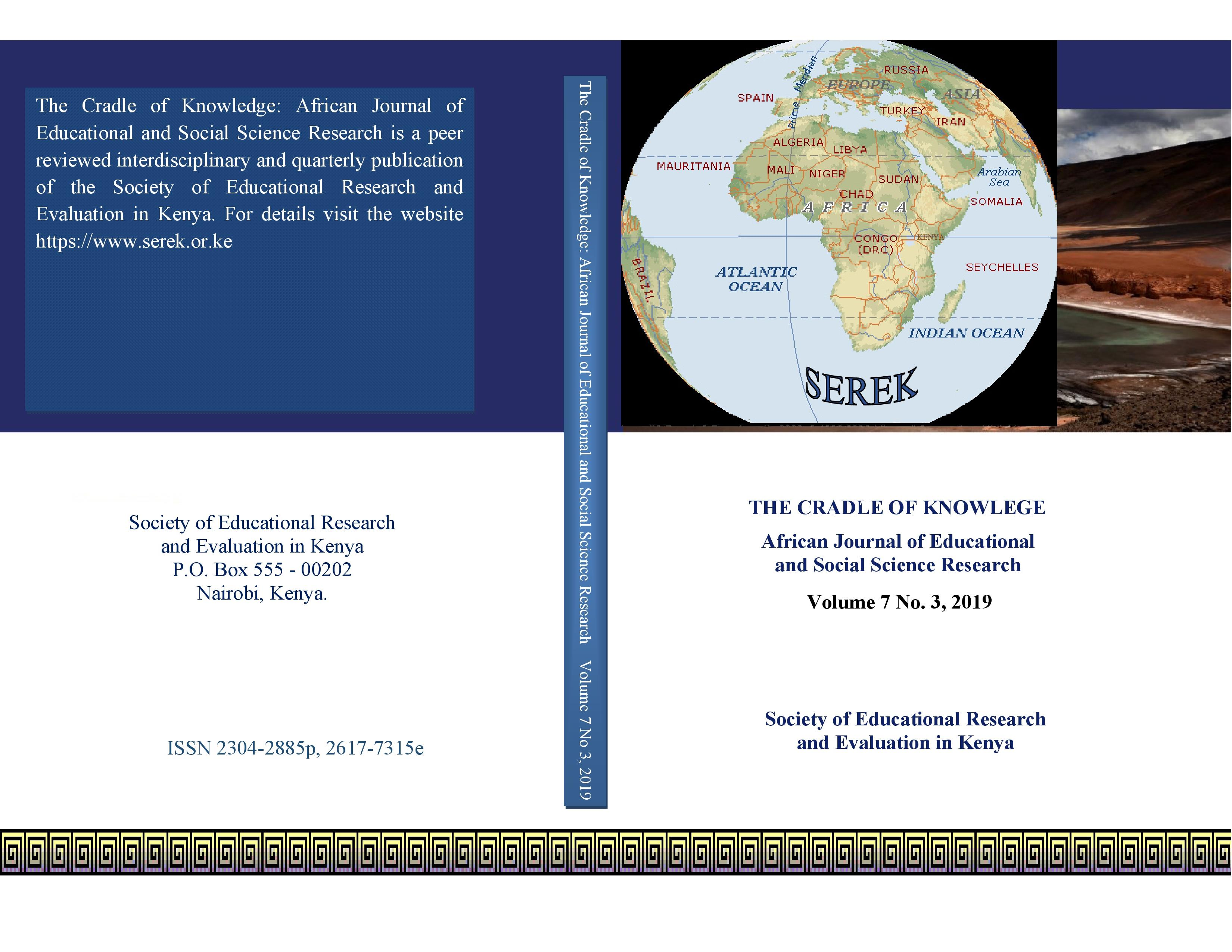 The Cradle of Knowledge: African Journal of Educational and Social Science Research