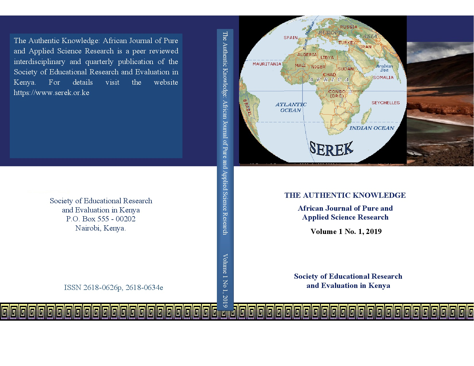 The Authentic Knowledge: African Journal of Pure and Applied Sceince Research