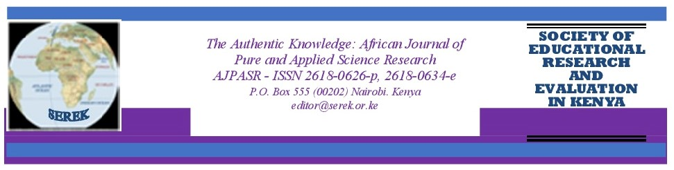The Authentic Knowledge: African Journal of Pure and applied Science Research